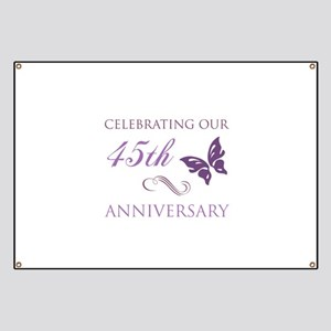 45th Wedding Aniversary (Butterfly) Banner