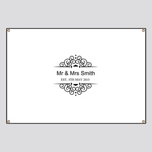 Custom Couples Name and wedding date Banner