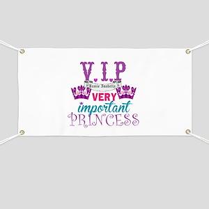 VIP Princess Personalize Banner