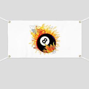 Fiery Eight Ball Banner