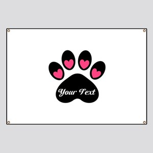 Personalizable Paw Print Banner