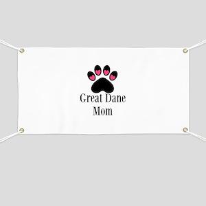 Great Dane Mom Paw Print Banner