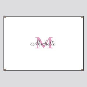 Personalized pink monogram Banner