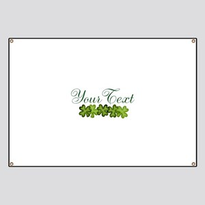 Personalizable Shamrocks Banner