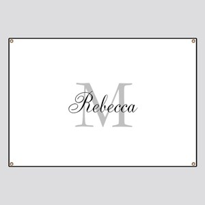 Monogram Initial And Name Personalize It! Banner