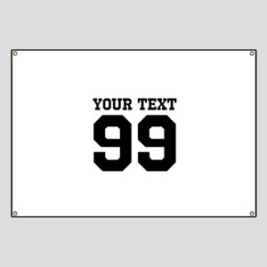 Custom Sports Jersey Number Banner