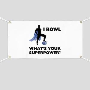 Bowling Superhero Banner