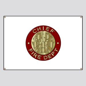 Fire chief brass sybol Banner