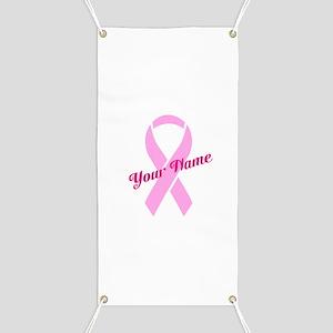Custom Pink Ribbon Banner