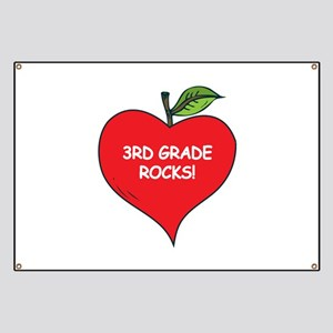 Heart Apple 3rd Grade Rocks Banner
