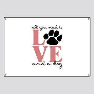 Love And A Dog Banner