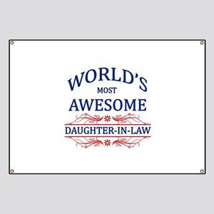 World's Most Awesome Daughter-in-Law Banner
