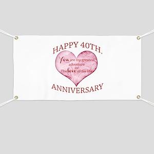 40th. Anniversary Banner