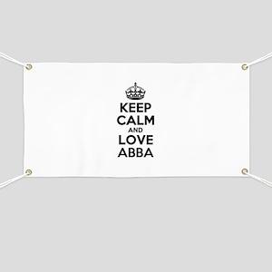 Keep Calm and Love ABBA Banner