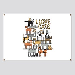 I LOVE CATS Banner