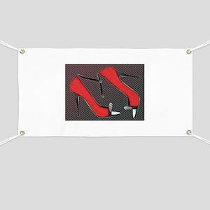 Raging Red Open Toed Stilettos Banner