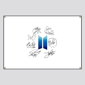 BTS Logo and Autugraphs Banner