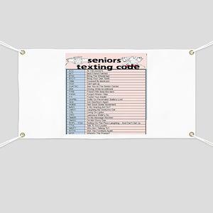 senior texting code Banner