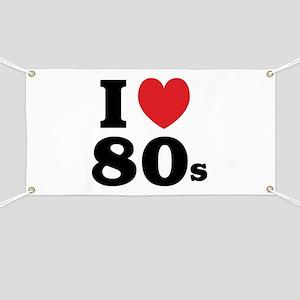 I Heart 80s Banner