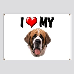 I Love My St. Bernard Banner