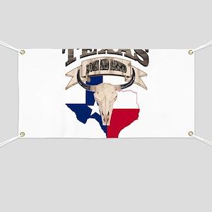 Bull Skull Texas home Banner