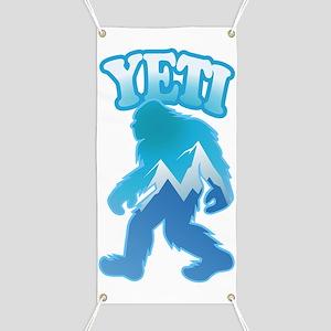 Yeti Mountain Scene Banner