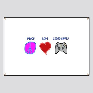 Peace love video games Banner
