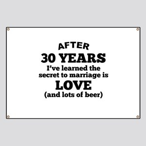 30 Years Of Love And Beer Banner