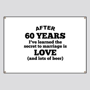 60 Years Of Love And Beer Banner