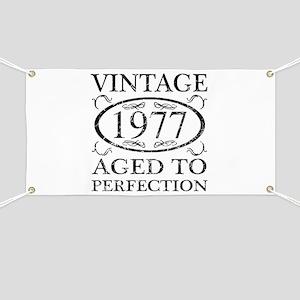 Vintage 1977 Banner