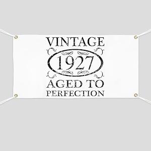 Vintage 1927 Banner