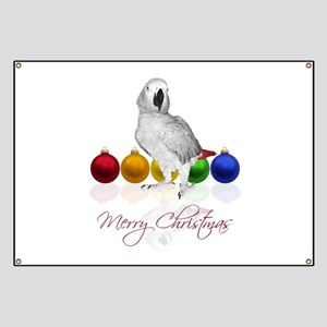 african grey christmas Banner