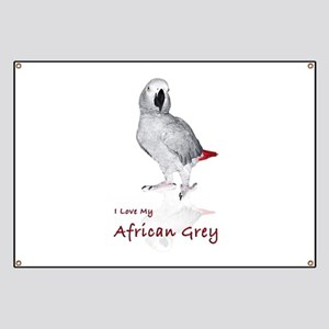 i love african greys Banner