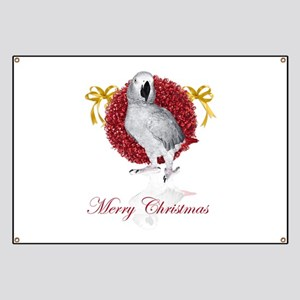 african grey parrot holiday Banner