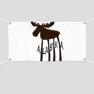 Alaska Moose Banner