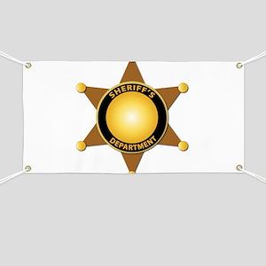 Sheriff's Department Badge Banner