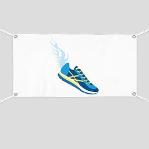 Running Shoe Wing Banner
