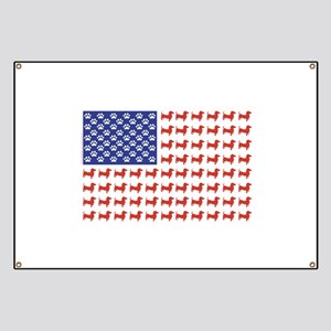 USA Patriotic Dachshund Banner