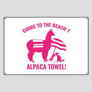 Alpaca Towel Banner