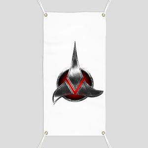 Star Trek KLINGON Metal Logo Banner