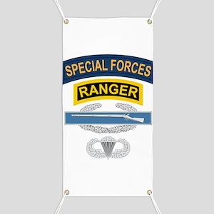 SF Ranger CIB Airborne Banner