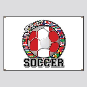 Peru Flag World Cup Soccer Ball with World Flags B