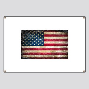 Faded American Flag Banner