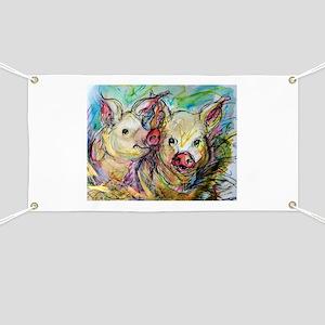 piglets, pig pair Banner