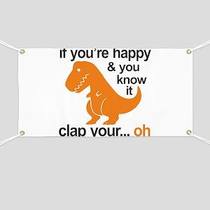 T-Rex clap your hands Banner