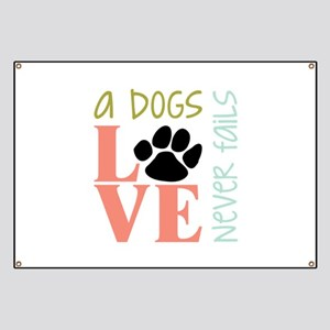 A Dogs Love Banner