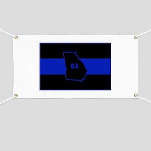 Thin Blue Line - Georgia Banner