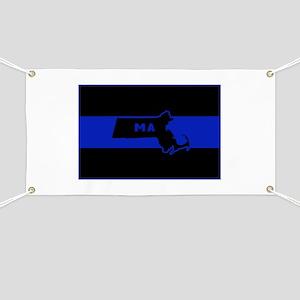 Thin Blue Line - Massachusetts Banner
