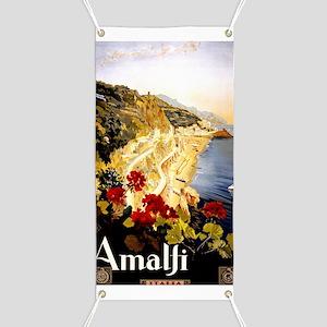 Antique Italy Amalfi Coast Travel Poster Banner