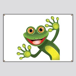 Happy Green Frog Banner